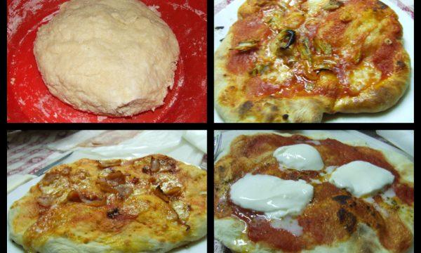 Pizza istantanea con lievito madre