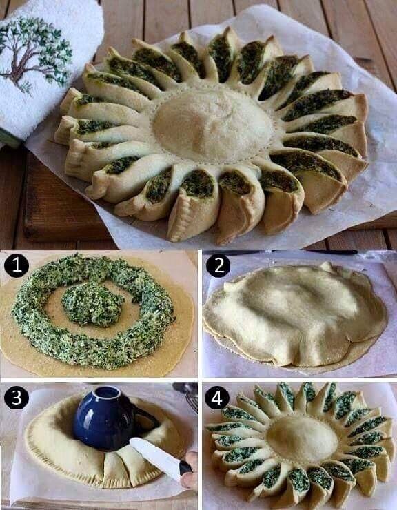 torta salata girasole