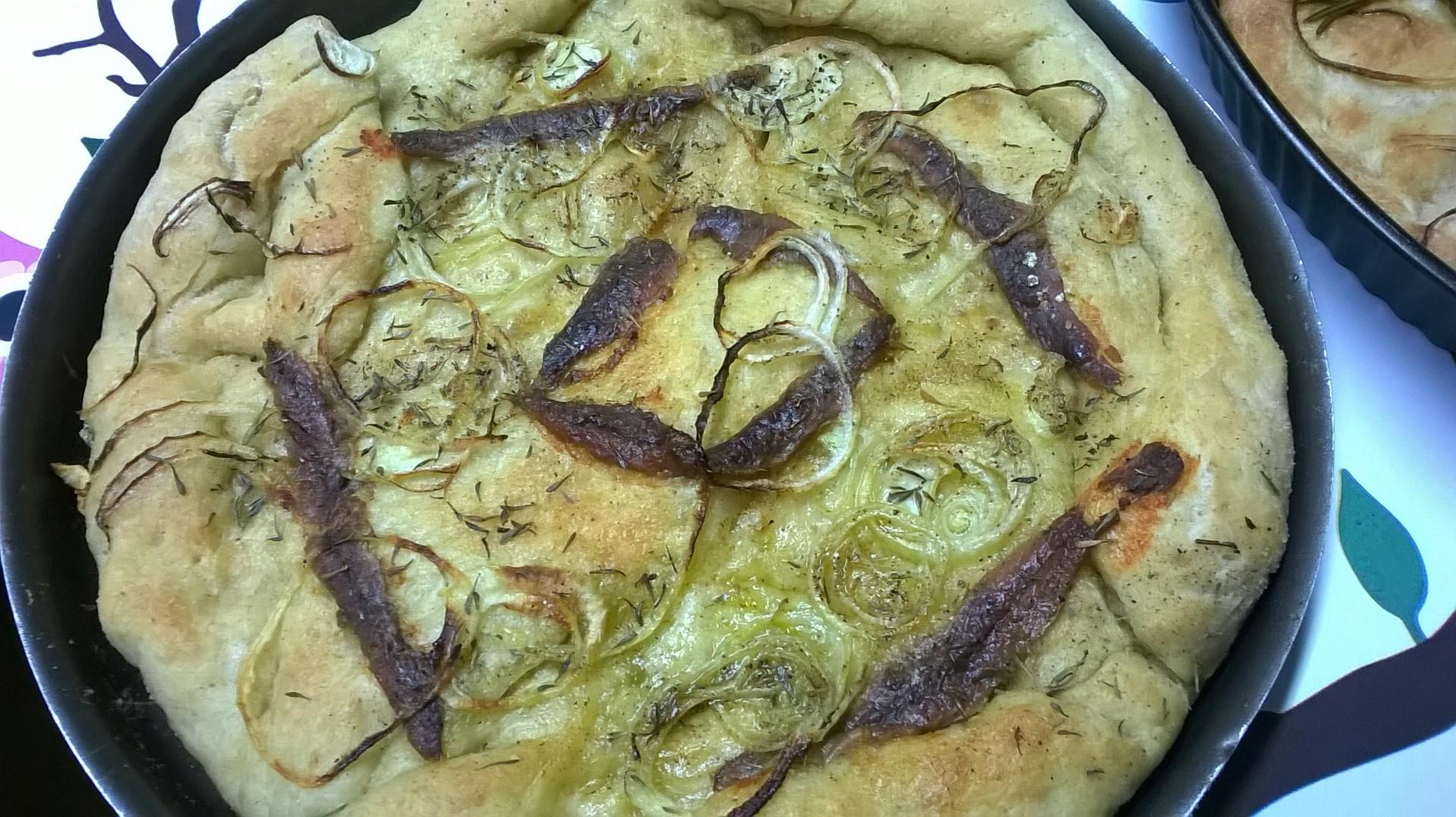 pizza cipolle e alici