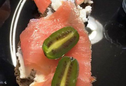 Tartina salmone e Nergi