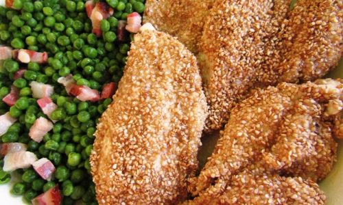 Petto di pollo al sesamo – sapore e croccantezza