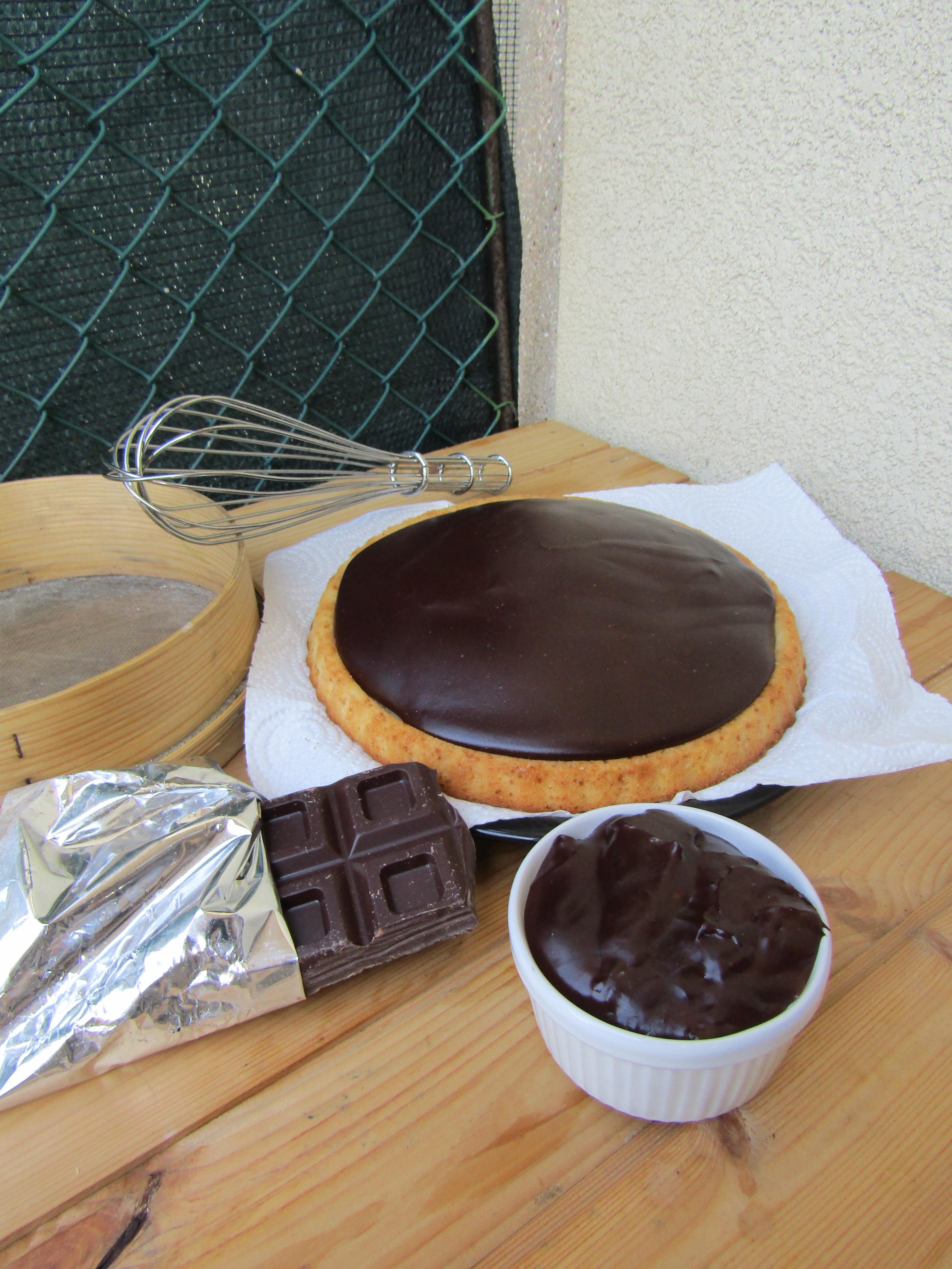 Torta con Stampo Furbo con Crema pasticcera al cioccolato.