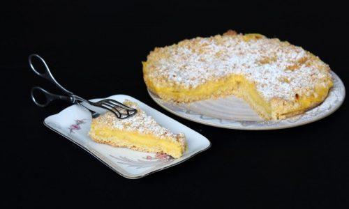 Torta sbriciolata alla crema – il nostro dolce preferito!