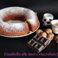 Ciambella alle noci e al cioccolato fondente