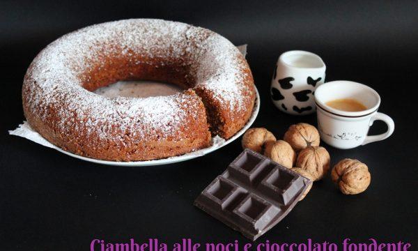 Ciambella alle noci e cioccolato fondente – semplicemente squisita!