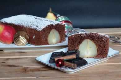 Plumcake Natalizio – cioccolato e pere
