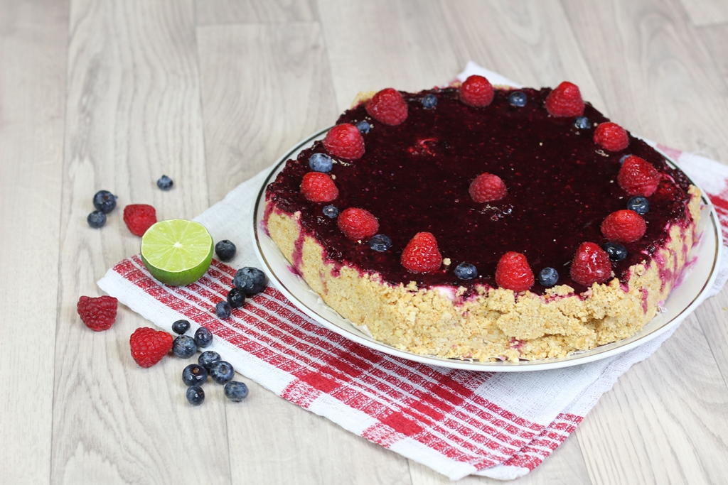 Cheesecake ai Frutti di bosco e lime