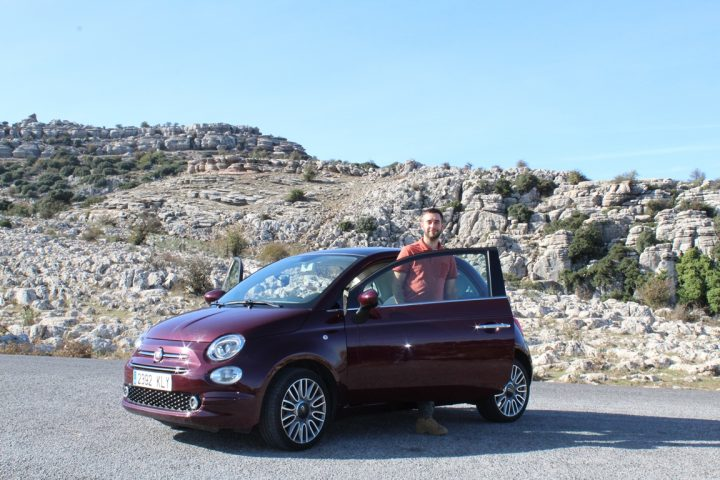 La nostra auto noleggiata con Wiber Rent a Car