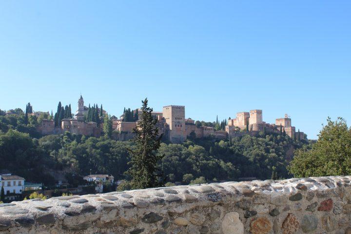 Vista sull'Alhambra dal Sacromonte di Granada.