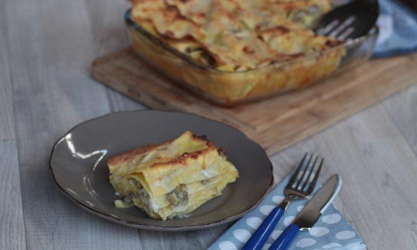Lasagne carciofi e salsiccia – il primo piatto delle feste