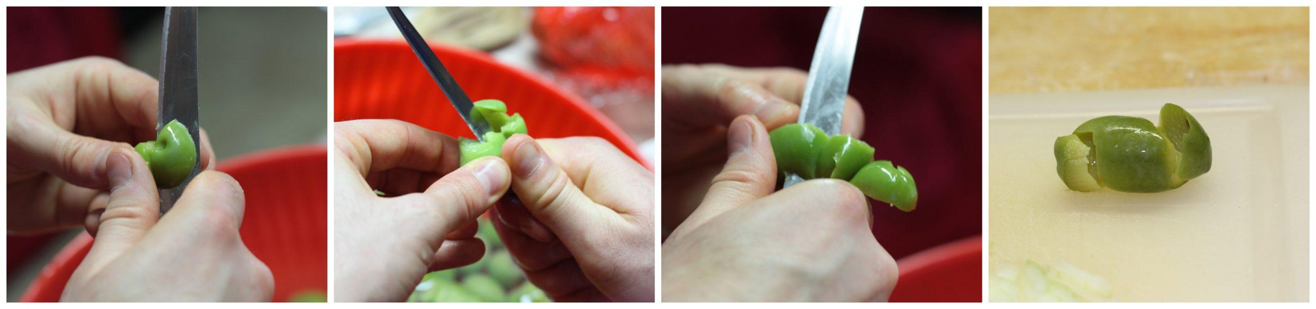 Come tagliare le olive