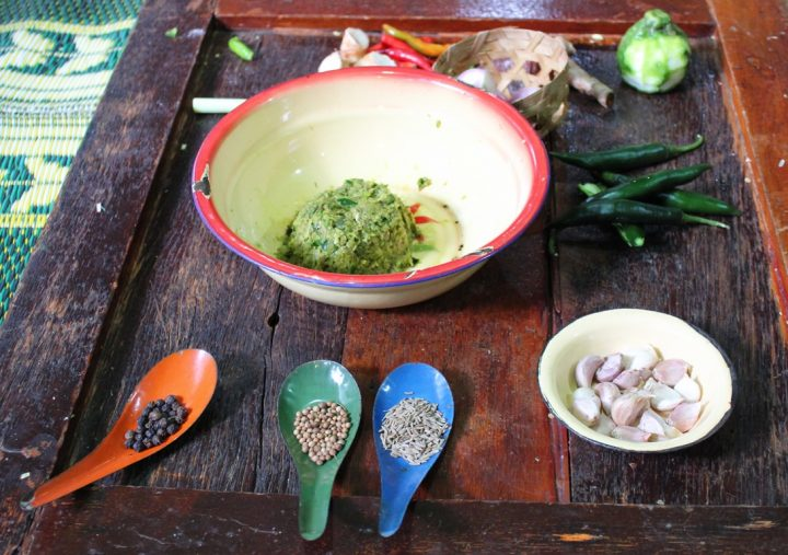 Pasta di curry verde - green curry paste - Nam prik gaeng kheao wan