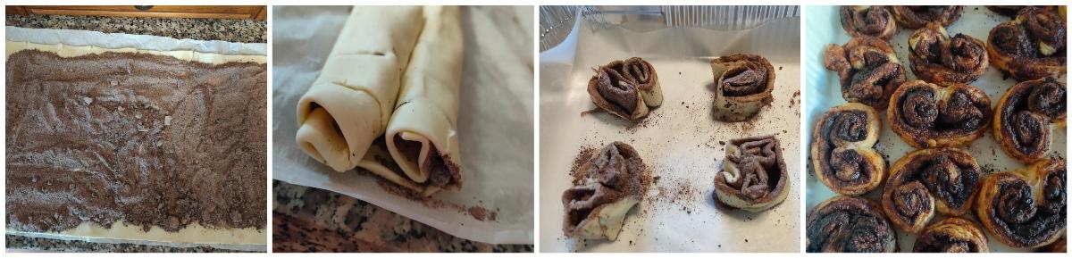 ventagli di pasta sfoglia al cioccolato