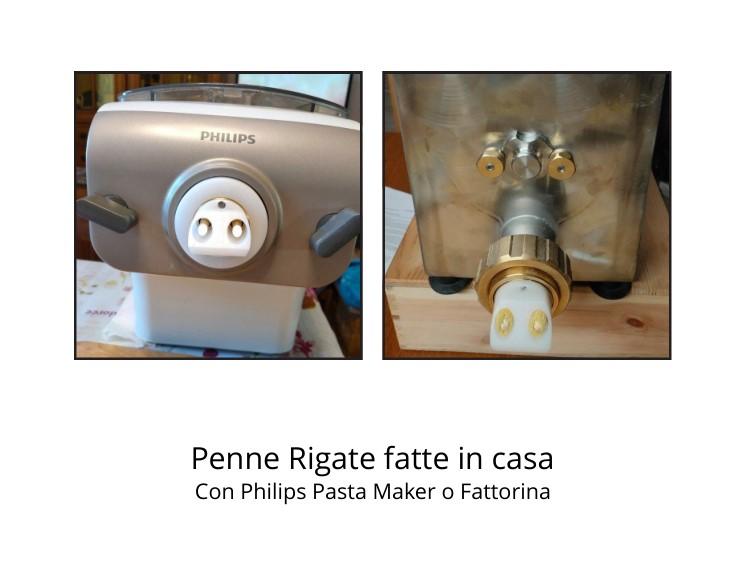 Penne rigate fatte in casa con Philips Pasta Maker o Fattorina